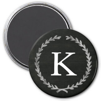 Magnet för svart tavlakranMonogram Magnet Rund 7.6 Cm