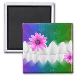 Magnet för tandläkare för blomma för rosor för