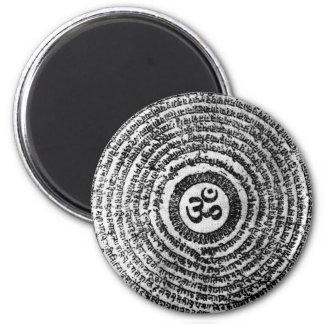 magnet kyl, india, om mani padmemummel, mantra magnet rund 5.7 cm