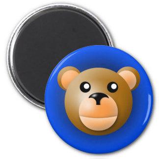 magnet med djur: björn magnet rund 5.7 cm