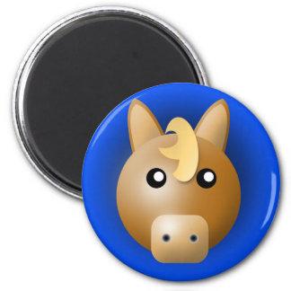 magnet med djur: häst magnet rund 5.7 cm