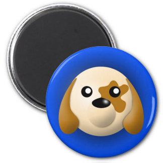magnet med djur: hund magnet rund 5.7 cm