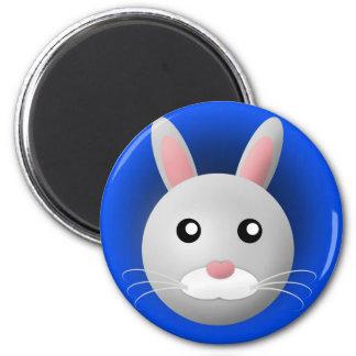 magnet med djur: kanin magnet rund 5.7 cm
