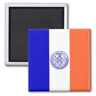 Magnet med flagga av New York City - USA