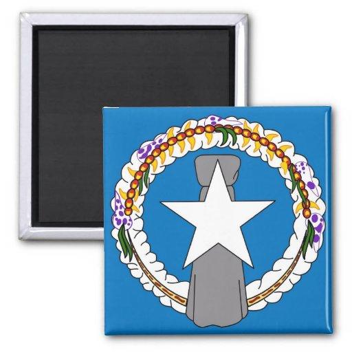 Magnet med flagga av Northern Mariana Islands - US Magneter För Kylskåp
