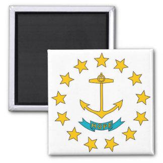 Magnet med flagga av Rhode - den statliga ön - USA