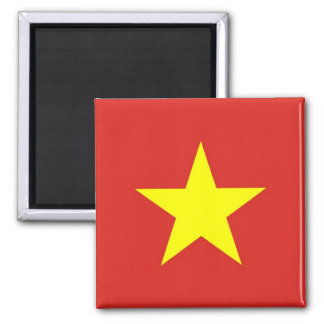 Magnet med flagga av Vietnam