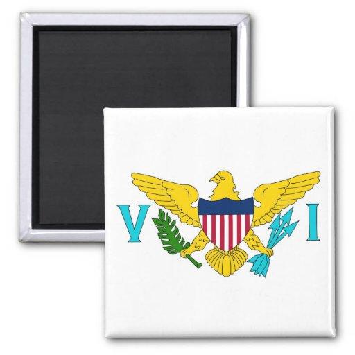 Magnet med flagga av Virgin Islands - USA Kylskåpmagneter