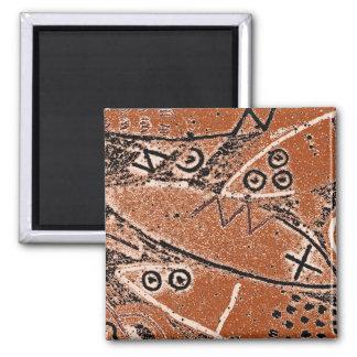 Magnet med primitiv djur design