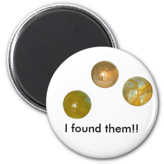 Magneten - marmorar - I grundar dem Magnet Rund 5.7 Cm