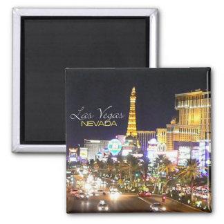 Magneter för kyl för Las Vegas Nevada nattsouvenir