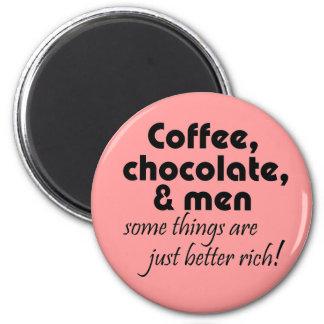 Magneter för kyl för roliga coffee shopgåvor rosa