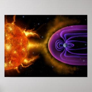 Magnetosphere - affisch 12x16 för utrymmevetenskap poster