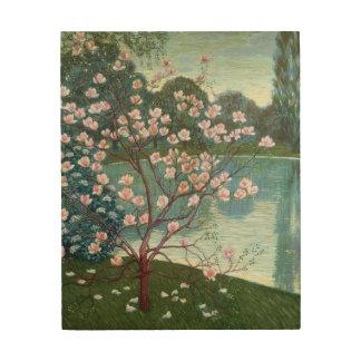 Magnolia (olja på kanfas) trätavla