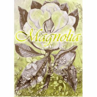 Magnolia Stående Fotoskulptur