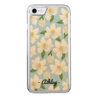 Magnoliasöndagiphone case carved iPhone 7 skal