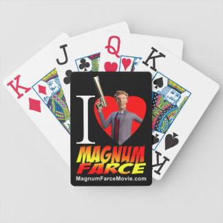 Magnumfar som leker kort spelkort