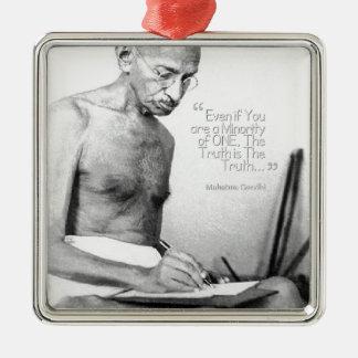 Mahatma Gandhi citationstecken, minoritet av en, Julgransprydnad Metall