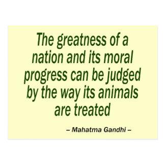 Mahatma Gandhi citationstecken Vykort