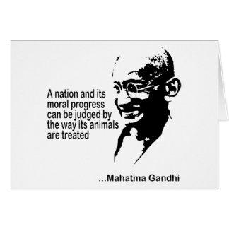 Mahatma Gandhi djurens rättigheter Hälsningskort