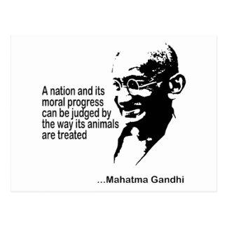 Mahatma Gandhi djurens rättigheter Vykort
