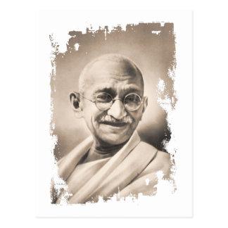 Mahatma Gandhi gåva Vykort