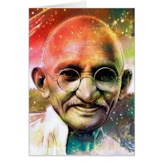 Mahatma Gandhi hälsningkort Hälsningskort