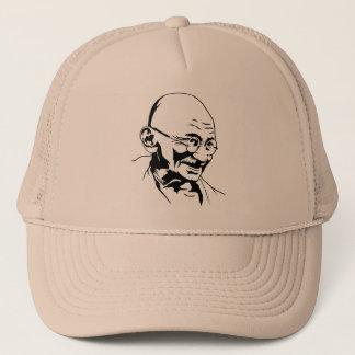 Mahatma Gandhi porträtthatt Keps