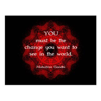 Mahatma Gandhi vishetordstäv om handling Vykort