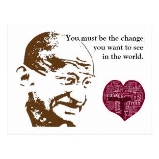 Mahatma Gandhi Vykort