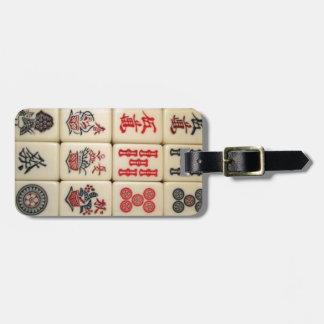 Mahjong belägger med tegel bagagebricka