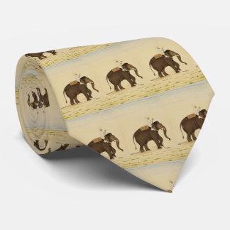 Mahout som rider en elefantmålning (det 18th slips