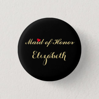 Maid of honor som gifta sig det Bachelorette Mini Knapp Rund 3.2 Cm