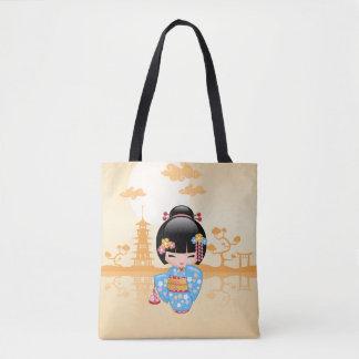 Maiko Kokeshi docka - gullig japansk Geishaflicka Tygkasse
