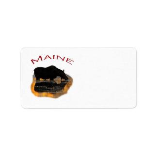 Maine Adressetikett