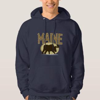 Maine älg tröja med luva