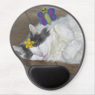 Maine Coonkatt som drömm sova gelen Mousepad Gel Musmatta