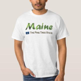 Maine - det statliga grästräd t-shirt