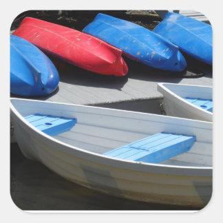 Maine fartyg fyrkantigt klistermärke