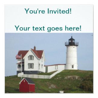 Maine fyr fyrkantigt 13,3 cm inbjudningskort