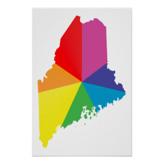 maine pride. poster