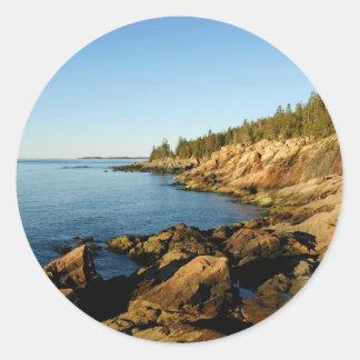 Maine Shoreline Runt Klistermärke
