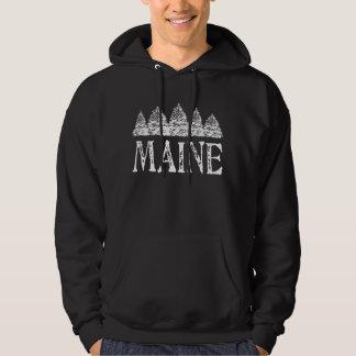 Maine vinter Evergreeens Hoodie