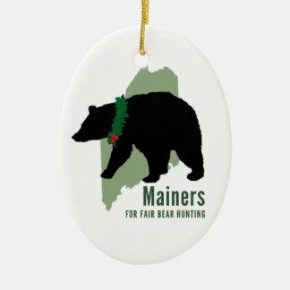 Mainers för mässabjörnen som jagar julgransprydnad keramik