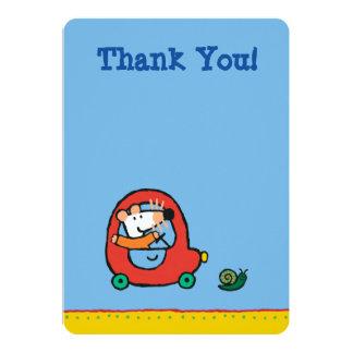 Maisy kör en gullig röd bil 12,7 x 17,8 cm inbjudningskort
