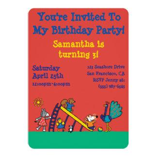 Maisy på lekplatsen med vänner 12,7 x 17,8 cm inbjudningskort