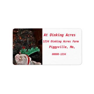 Maj anden av jul, grisadressetiketter adressetikett