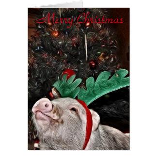 Maj anden av jul, grishälsningkort hälsningskort