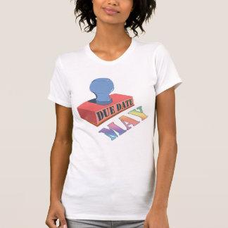 Maj daterar rakt moderskapT-tröja Tee Shirt