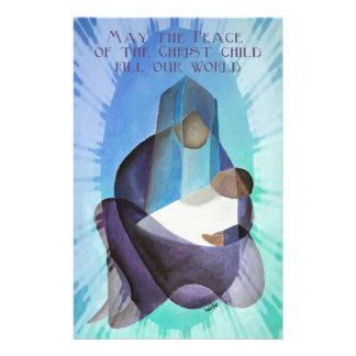 Maj freden av Kristusbarnpåfyllningen vår värld Brevpapper